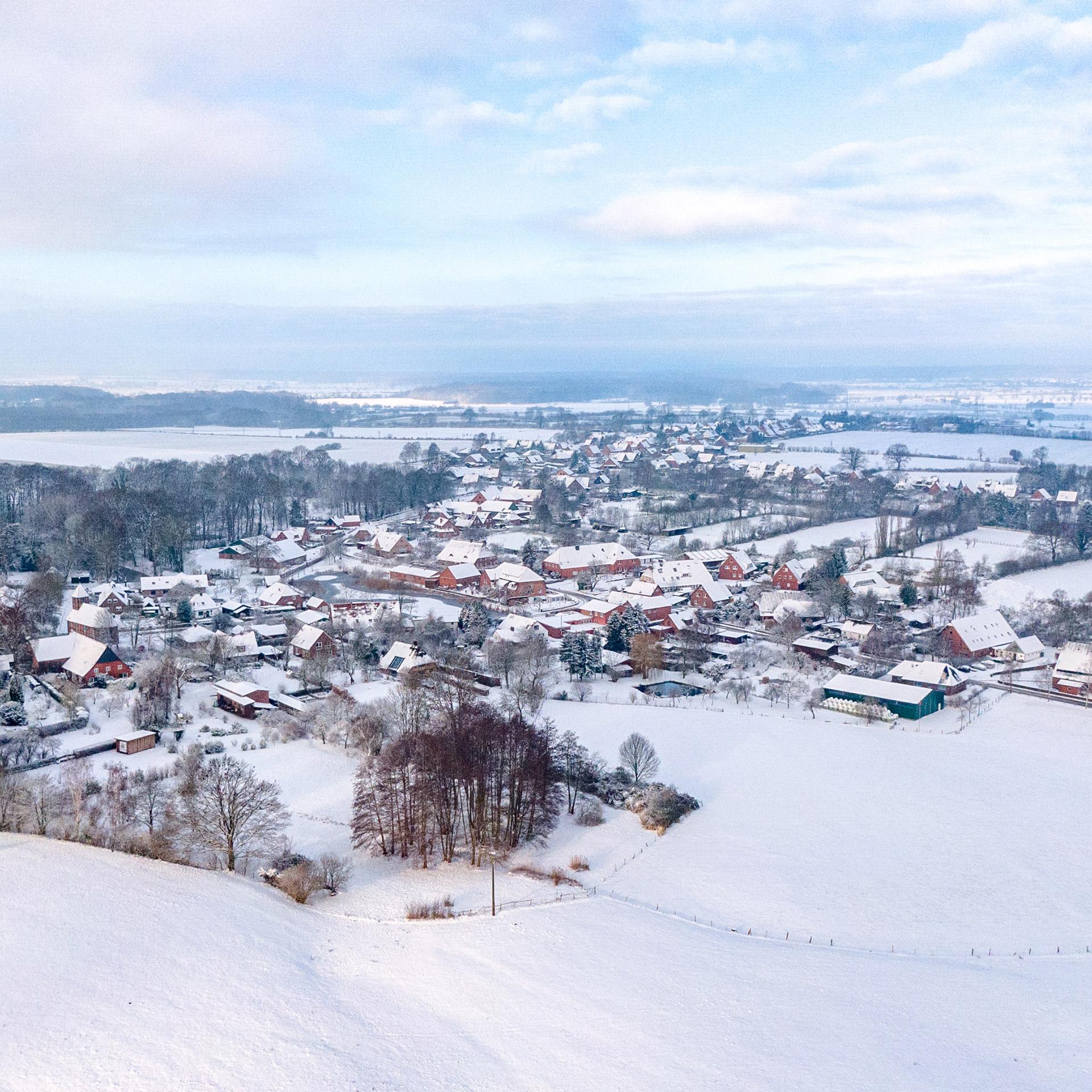 Niendorf im Schnee